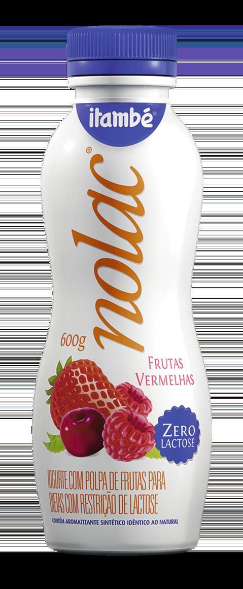 Iogurte Sabor Frutas Vermelhas NoLac 600G