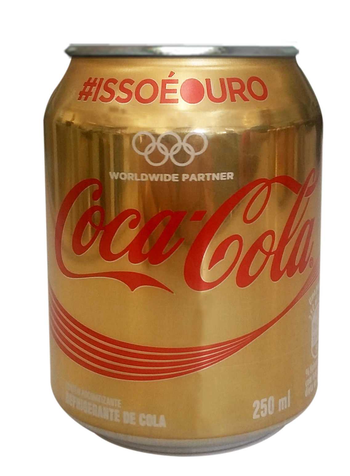 Mini lata dourada Coca Cola