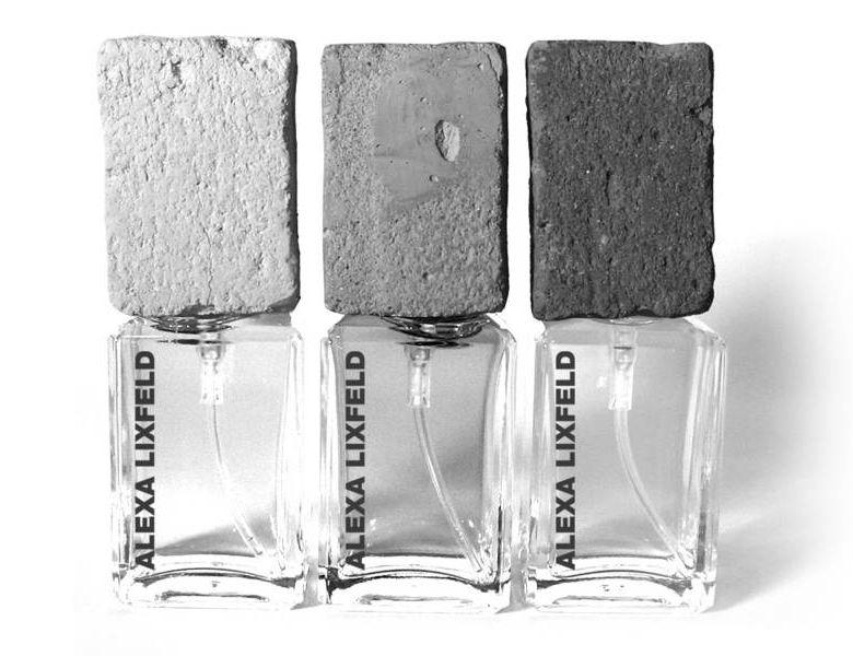 Alexa Lixfeld levou concreto para as tampas de suas fragrâncias