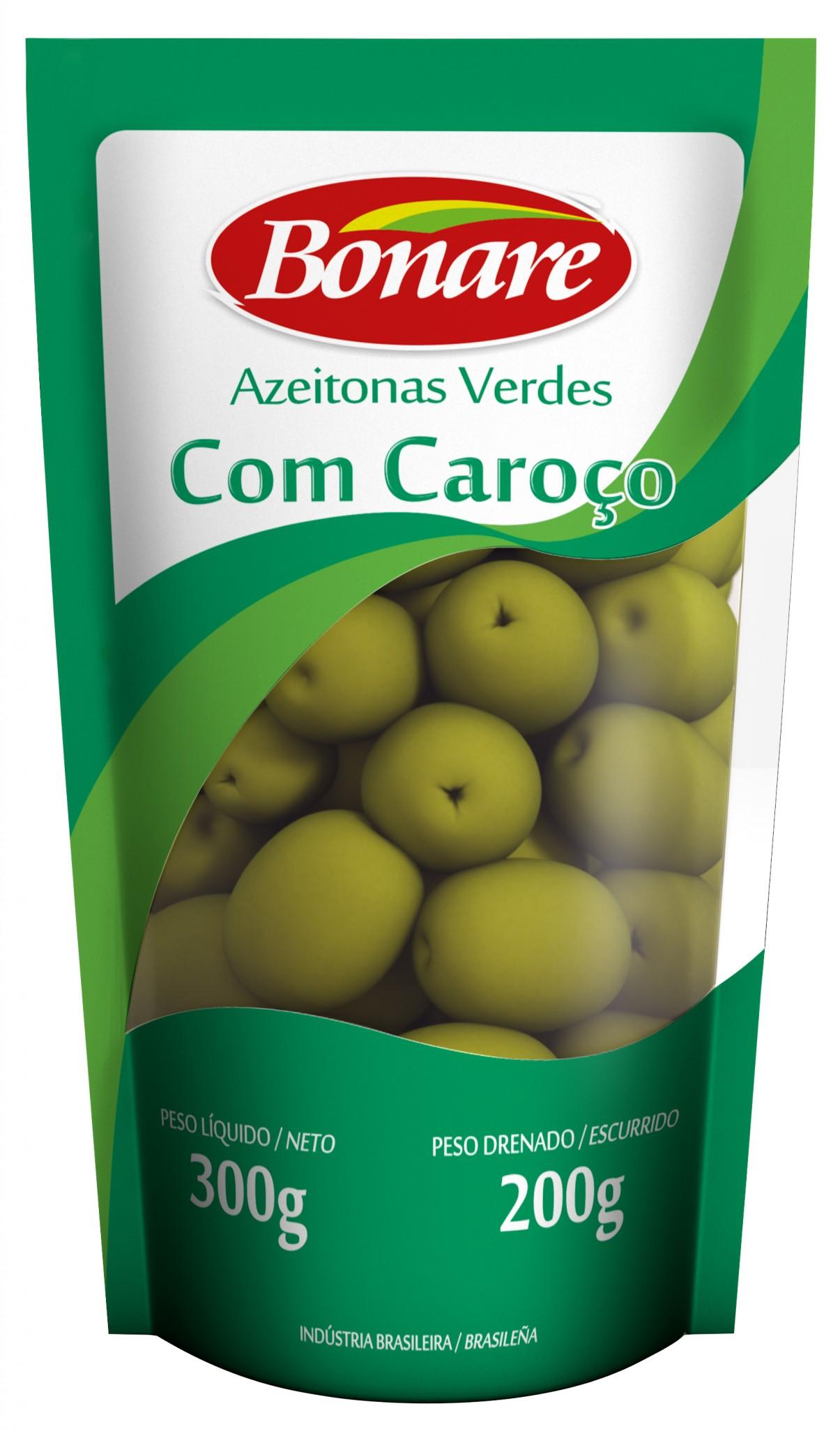 AZEITONAS VERDES COM CAROÇO 200g
