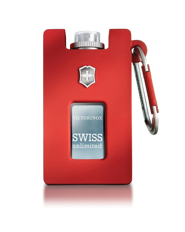 Borracha reveste o frasco de Swiss Unlimited, da Victorinox