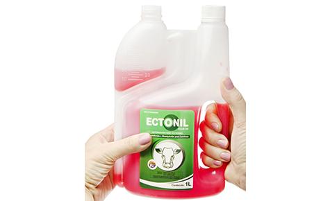 Frasco 1000ml Pour On Dosador com Pega Convertedor: Poly-Blow / Mais Polímeros do Brasil Brand owner: Ipanema Indústria de Produtos Veterinários