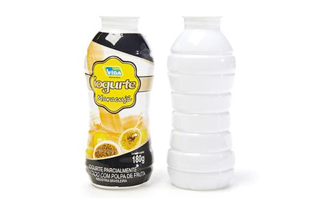 Frasco Lácteo (Iogurte) One Shot 180ml Convertedor: Flexoprint / Macpet Embalagens Brand owner: Salute
