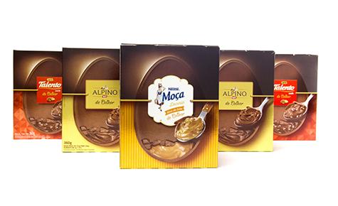 Ovos de Páscoa de Colher Nestlé e Garoto  Design: FutureBrand  Convertedor: 43 S/A Gráfica e Editora  Brand owner: Nestlé