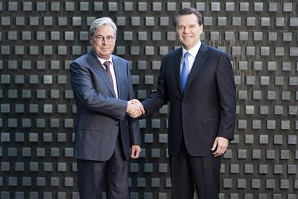 Hariolf Kottmann (CEO da Clariant) e Peter Huntsman (CEO da Hunstman)