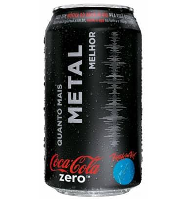Embalagens de Coca Zero para o Rock in Rio tocam música