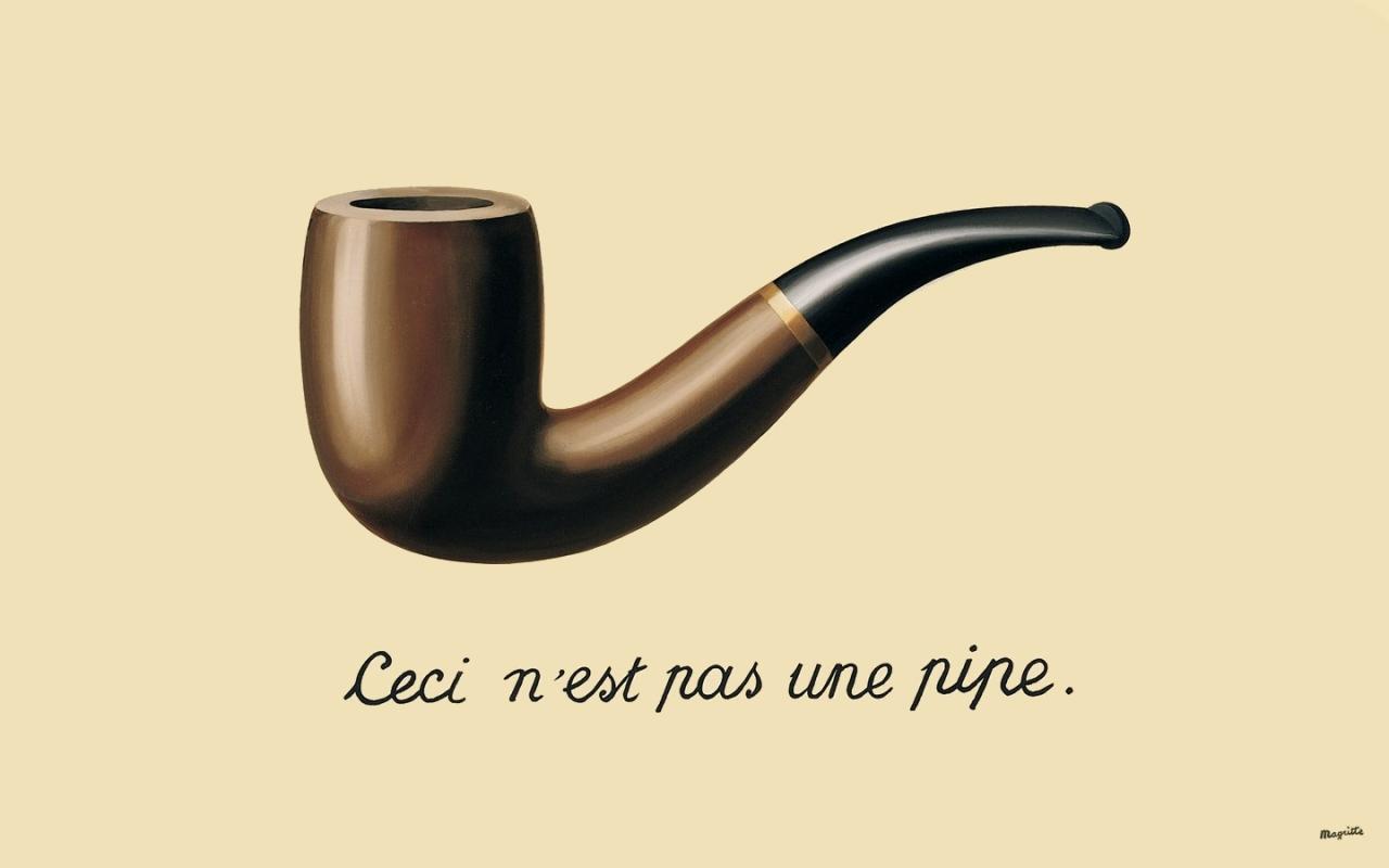 La trahison des images, de René Magritte