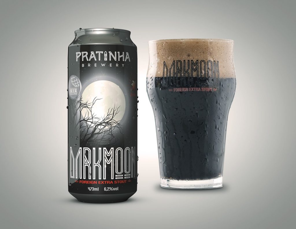 Cerveja em lata Darkmoon