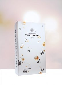 Caixa presenteável da Taittinger: extensão do produto que acondiciona