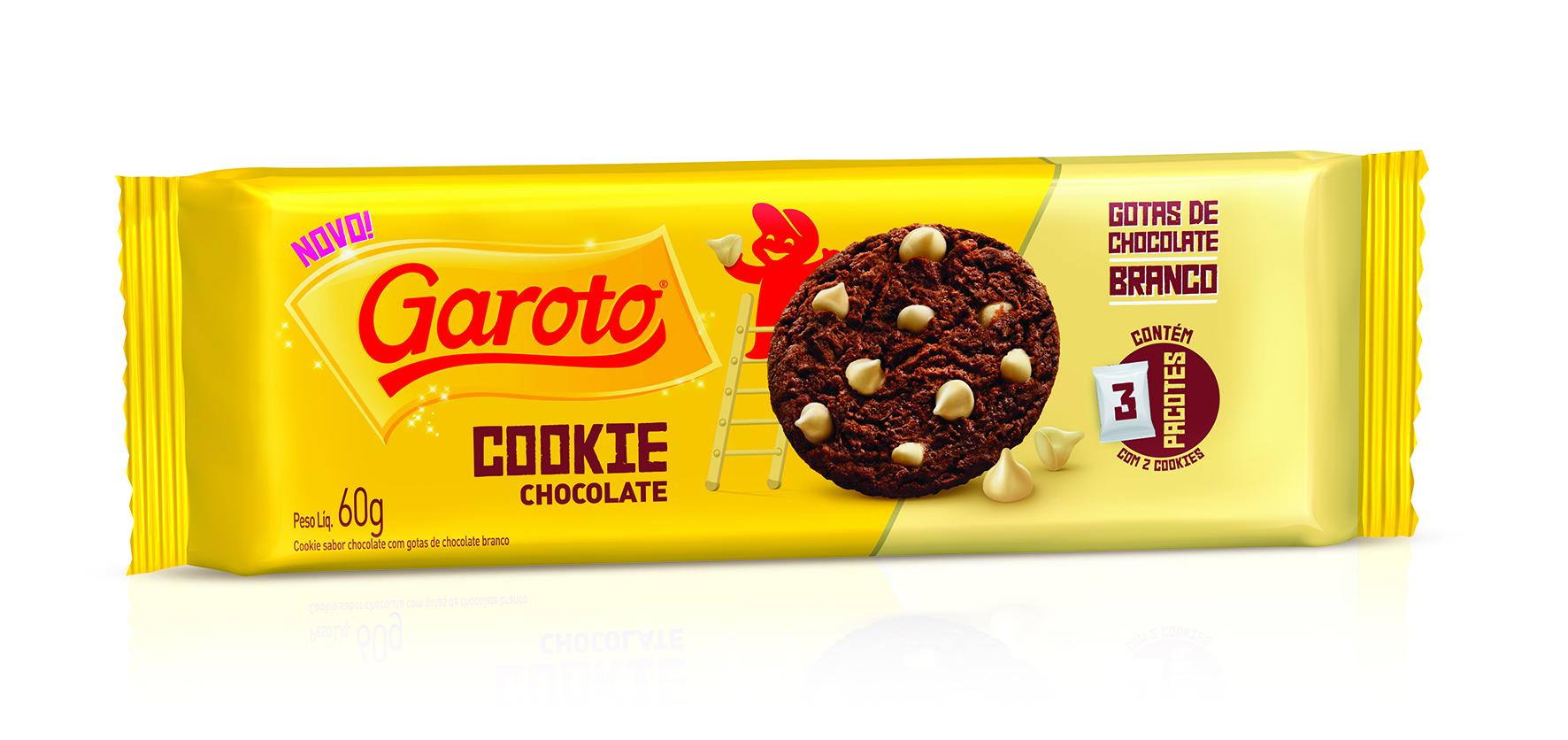 garoto bisc cookie 60g choc bco MD