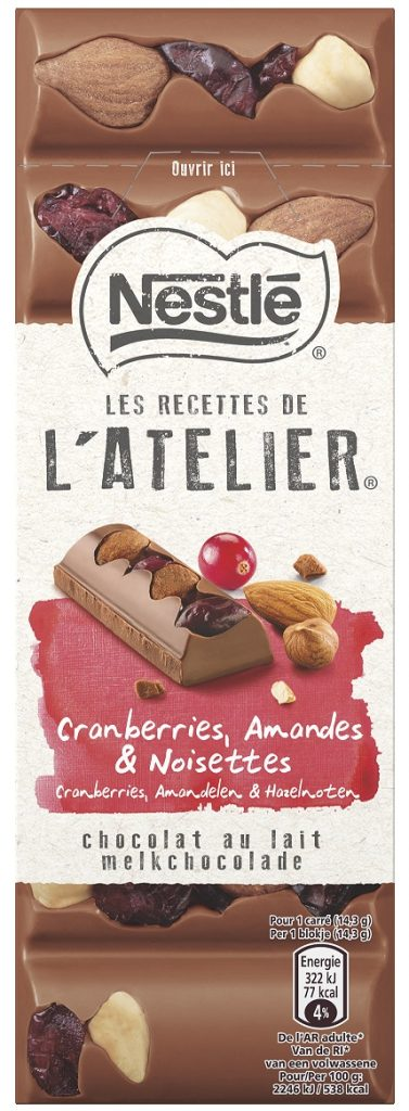 Nestle LRDA Milk Cranberries Almonds Hazelnuts 100g