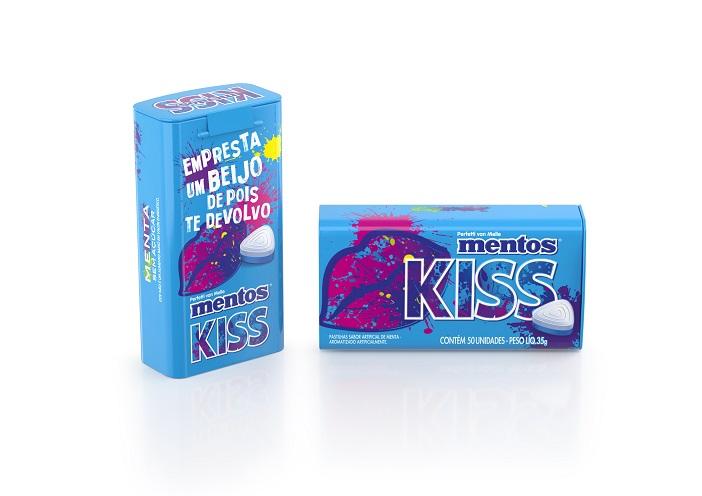 Tin 50pz Mentos Kiss Menta 1 Brazil