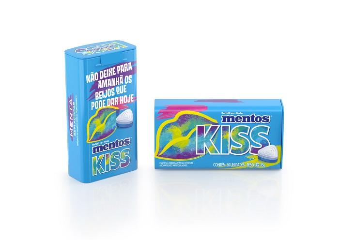 Tin 50pz Mentos Kiss Menta 2 Brazil