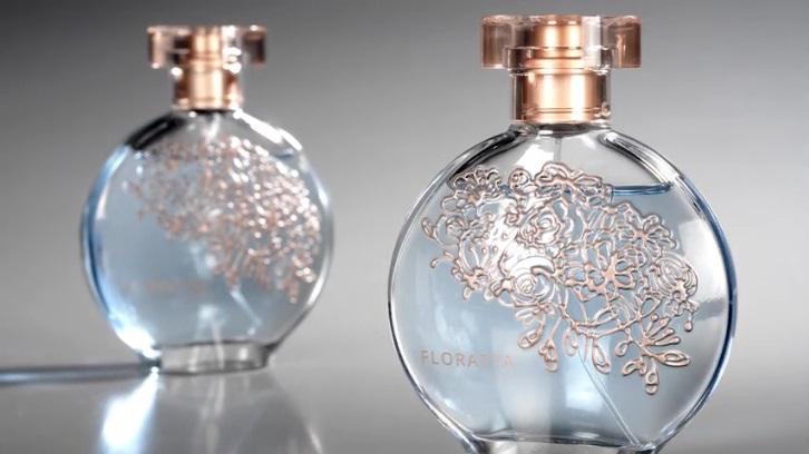 Tampa do perfume Floratta é produzida com Surlyn